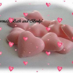 mini heart soaps of 10, valentine s..