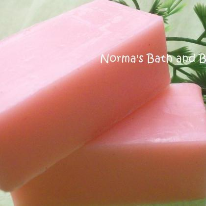 cotton candy glycerin soap sample