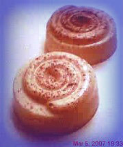 Cinnamon Roll soaps. set of 2
