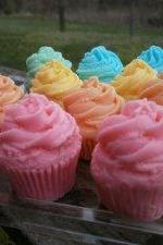 mini cupcake soaps. set of 12