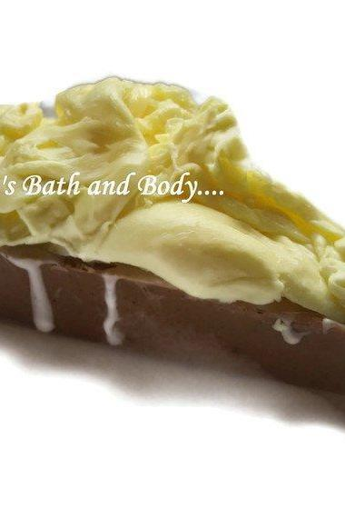 lemon and chocolate glycerin pie soap