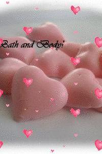mini heart soaps of 10, valentine soap, glycerin soap, kids soap, handmade soap- FREE SHIPPING