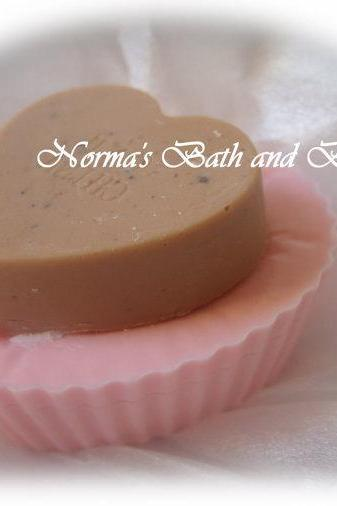 double heart valentines cupcake soap, valentine soap, beauty, bath, soap, heart soap, valentines day