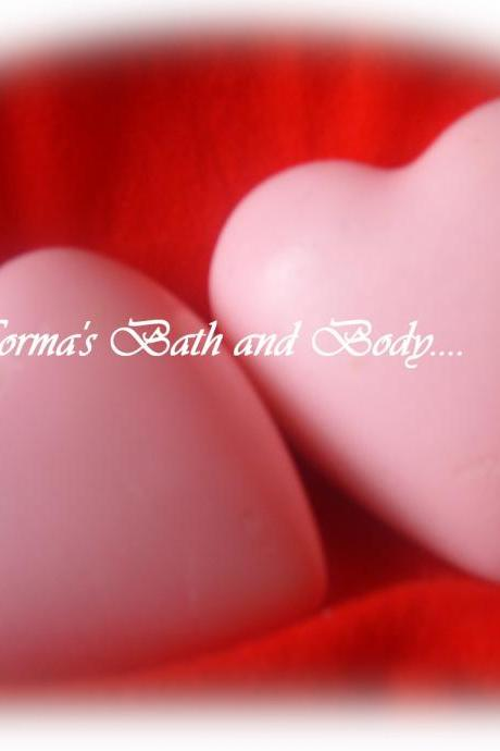 valentine heart soaps. set of 2, valentines gifts, valentine soap, heart soaps