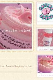Cotton Candy bath and body gift set. any color