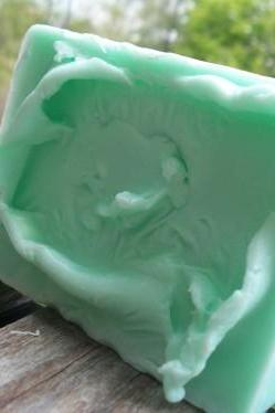 cucumber melon glycerin soap, soap, glycerin soap, handmade soap, normas bath and body