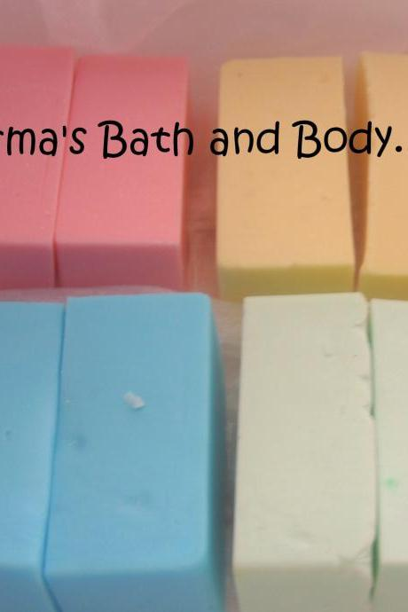 trial size soap samples. set of 4