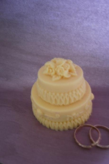 banana wedding cake soap