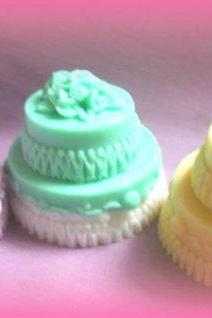 Wedding cake Soaps- Bulk wholesale set of 50- wholesale soap- Handmade Soap- Wedding Soap