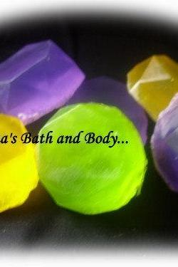 Gem stone soaps. set of 6