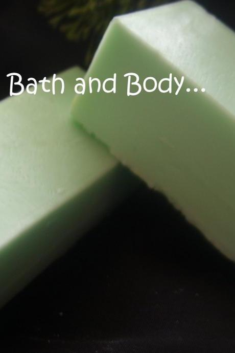 cucumber melon glycerin soap samples