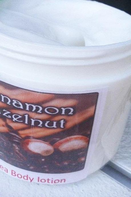 Cinnamon and Hazelnut Lotion- Lotion- Fall- Beauty- Handmade Lotion- Cinnamon Lotion- Hazelnut Lotion- Skin care