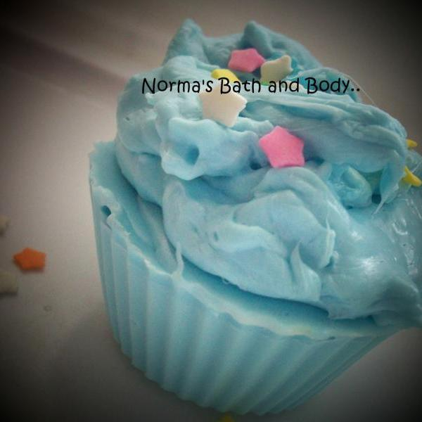 baby powder cupcake soap, cupcake soap, kids soap, party soap, dessert soap, handmade soap, soap
