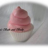 raspberry kids ice cream cupcake soap