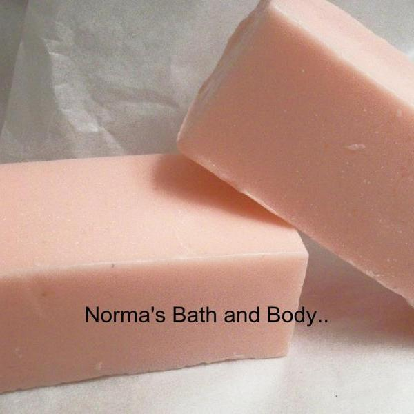 peppermint goats milk soap sample